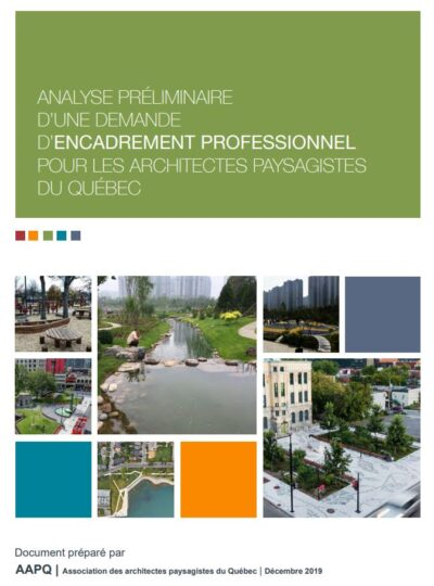 page couverture d'un document